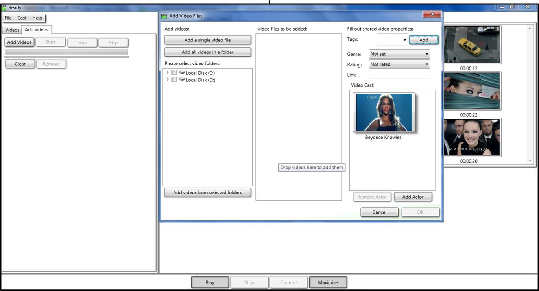 Fast video cataloger adding videos