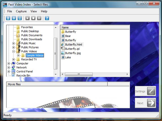 Click to view Fast video indexer 1.23 screenshot